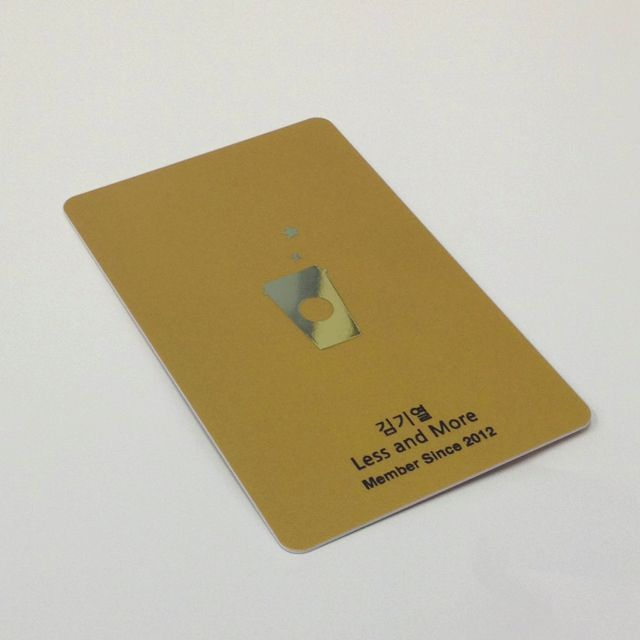 Starbucks Gold Membership Card.