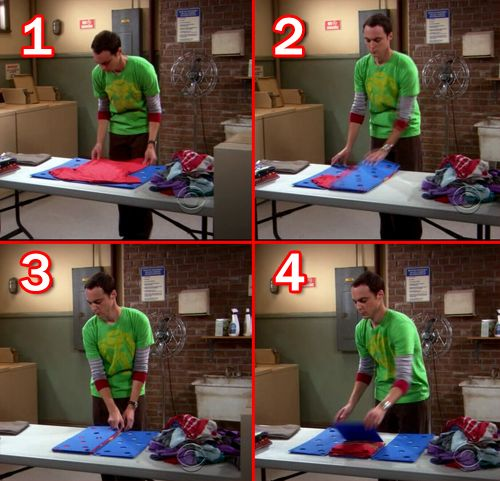 Image result for sheldon cooper clothes folding board