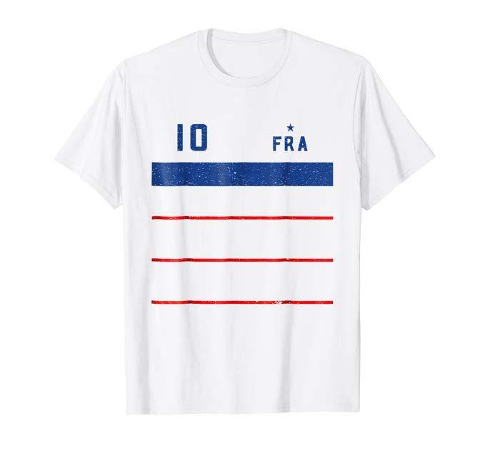 France 2018 Mariniere Away Soccer T-Shirt  1255fe9c7
