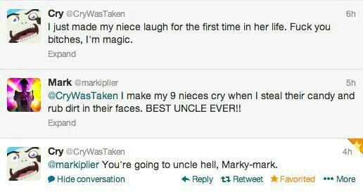 Best Uncle Eva Markiplier Cryaotic Twitter Funny 20.3k watchers542.5k page views28 deviations. pinterest