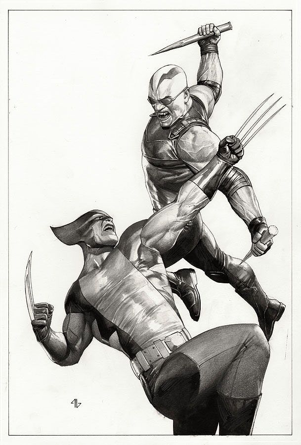 Wolverine vs Blade pencils