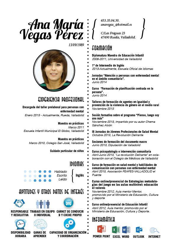 Curriculums Creativos Maria Aguado A Creative Cv Curriculum Best Cv Template