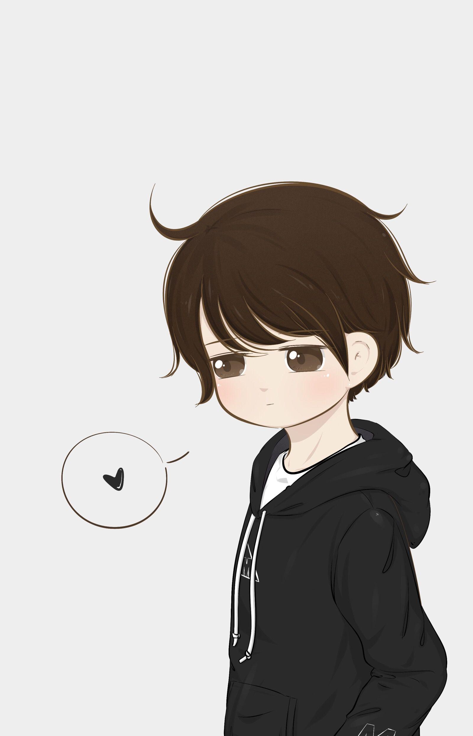 泠𝙻𝚒𝚗𝚐 • 𝙰𝚛𝚝𝚒𝚜𝚝 빽😷 Cute anime boy, Anime art girl