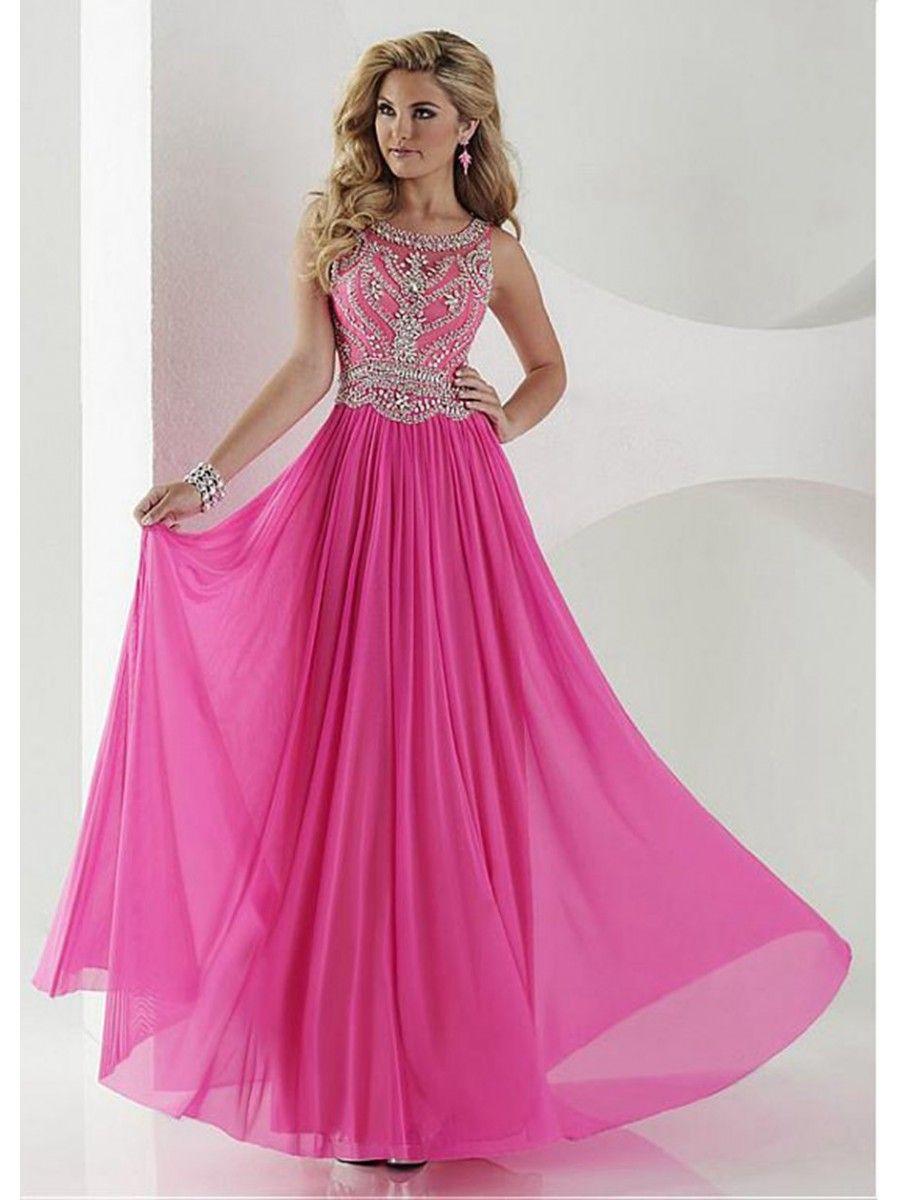 A-Line Beaded Long Chiffon Prom Formal Evening Dresses 99501024 ...