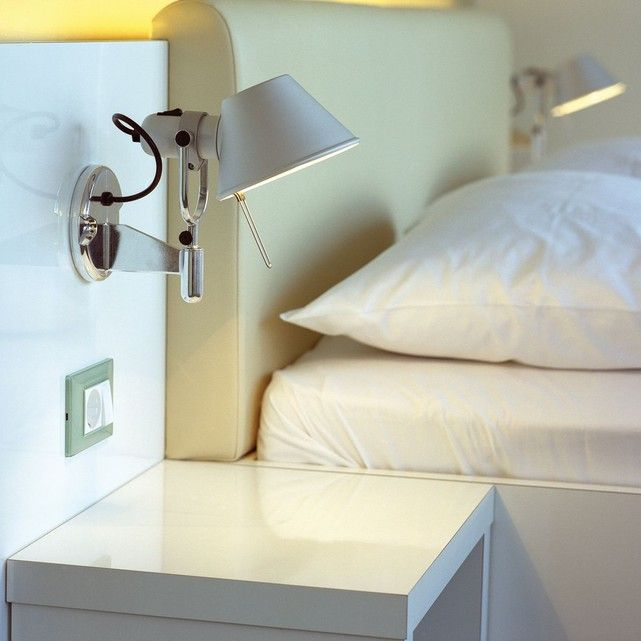 Matrimoniale Applique Camera Da Letto Design.Tolomeo Faretto Applique Orientable Alu Avec Interrupteur H23cm