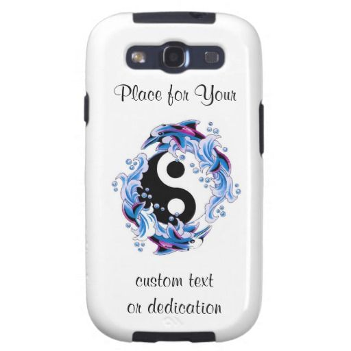 Cool Cartoon Tattoo Symbol Yin Yang Dolphins Samsung Galaxy Siii