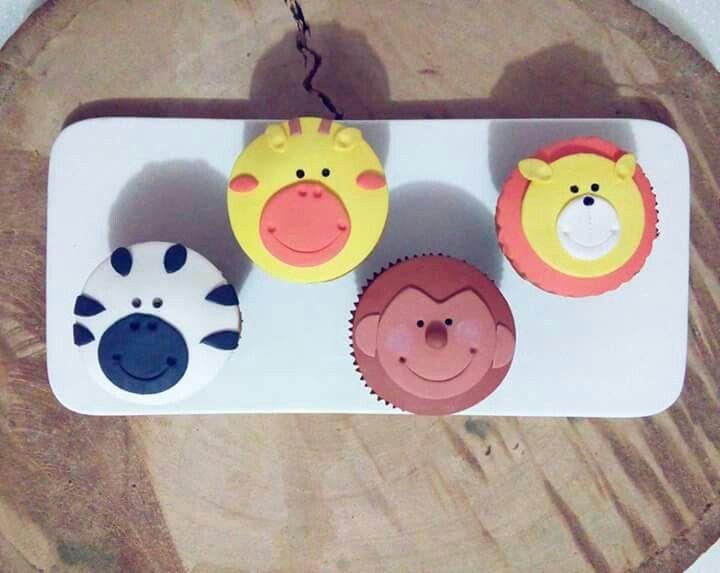 Cupcakes de safari