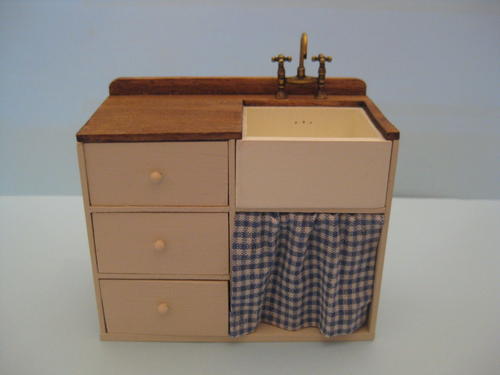 12th scale dolls house furniture kitchen sink unit with brass 12th scale dolls house furniture kitchen sink unit with brass mixer tap ebay workwithnaturefo