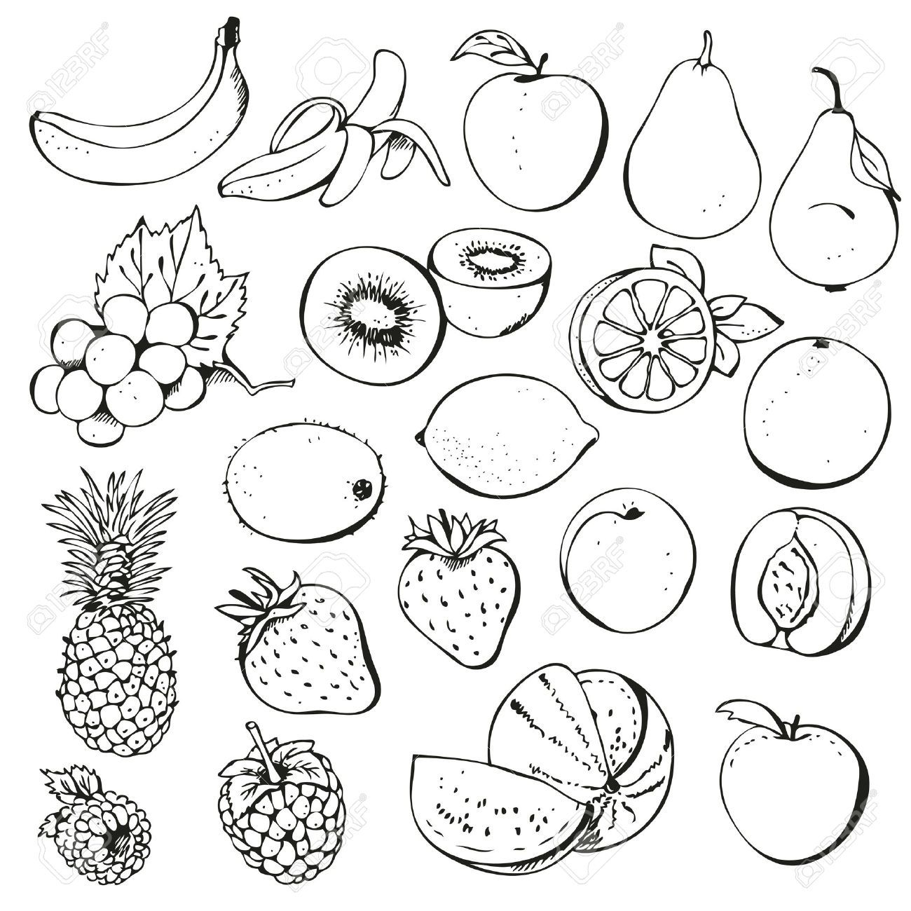 clip art black and white fruit of the spirit - Google Search