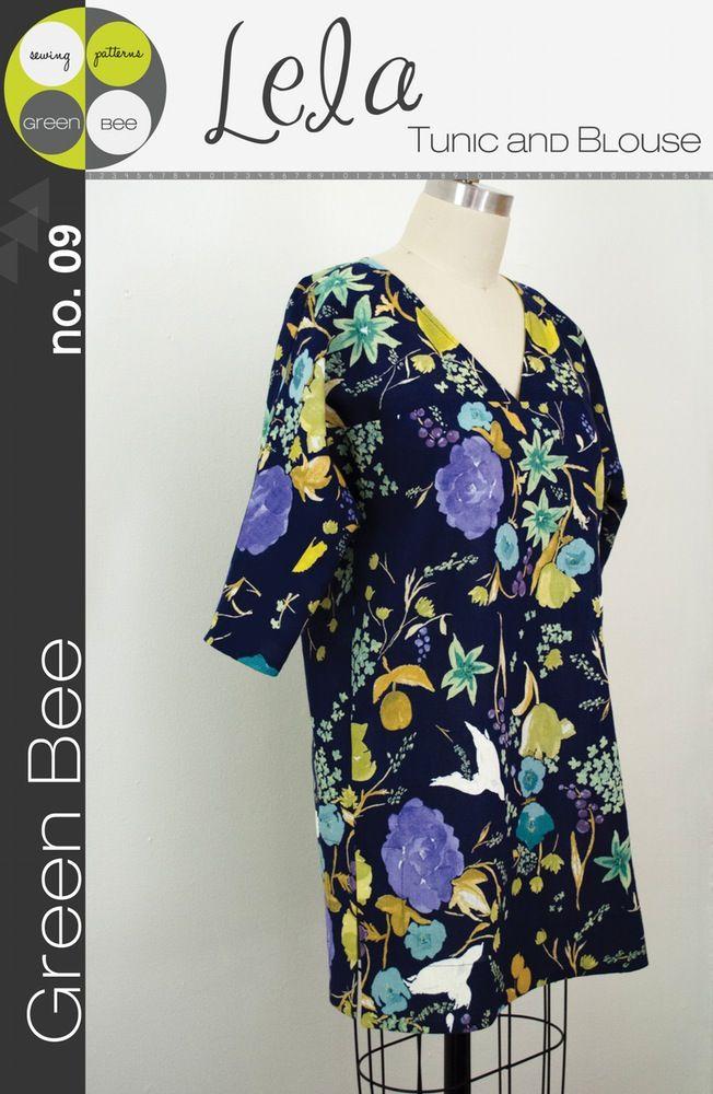 greenbeepatterns — Lela Tunic and Blouse Pattern