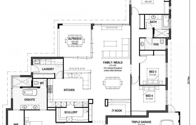 Floor Plan Friday Classic Hamptons Single Storey Home Single Storey House Plans Four Bedroom House Plans Home Design Floor Plans