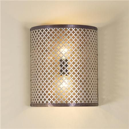 Quatrefoil Cutout Wall Sconce With Images Wall Sconces