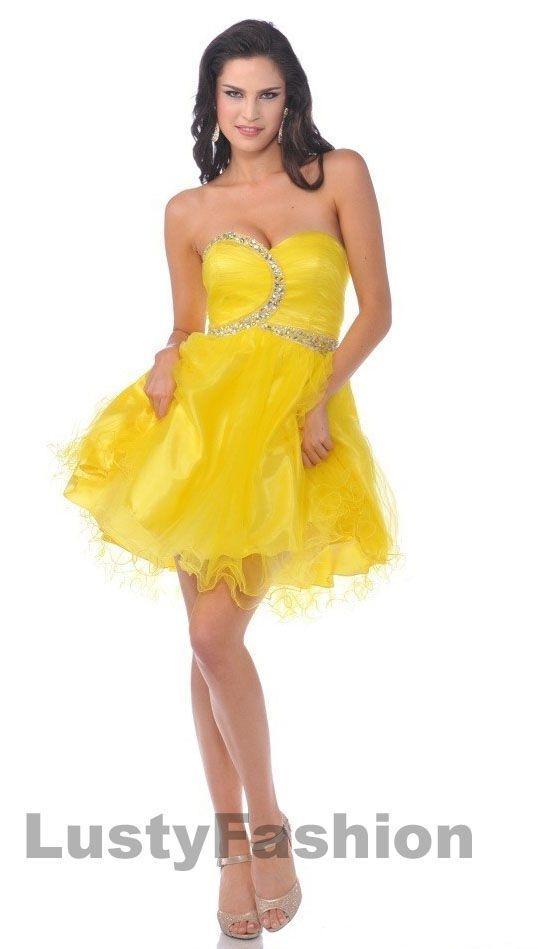 short yellow prom dress | prom maybe? | Pinterest | Abiti da ballo ...