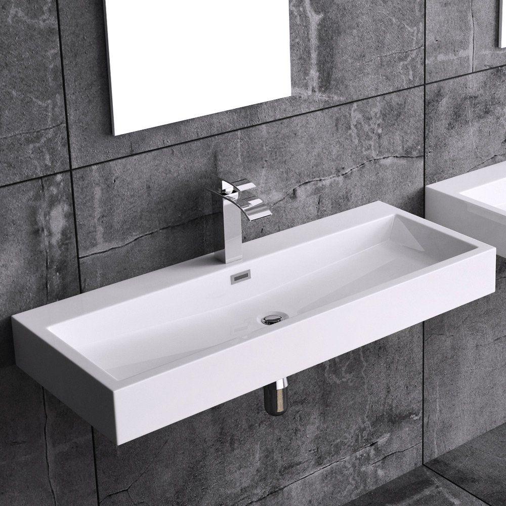 Design Gussmarmor Waschbecken Stand Waschtisch Colossum06 1000mm