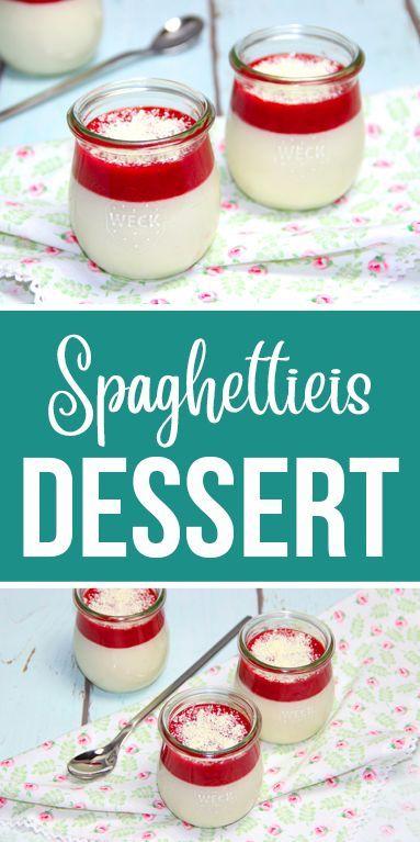 Spaghettieis Dessert #buffet