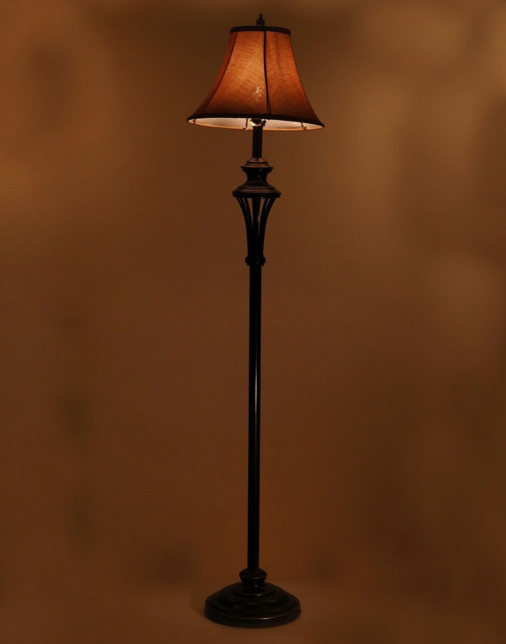 Aesthetichs Antique Floor Lamp With Brown Cloth Lamp Shade Antique Floor Lamps Lamp Floor Lamp