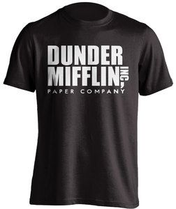 The Office Dunder Mifflin Inc Paper Company Logo Black T Shirt The Office Shirts The Office Merch The Office Tshirt