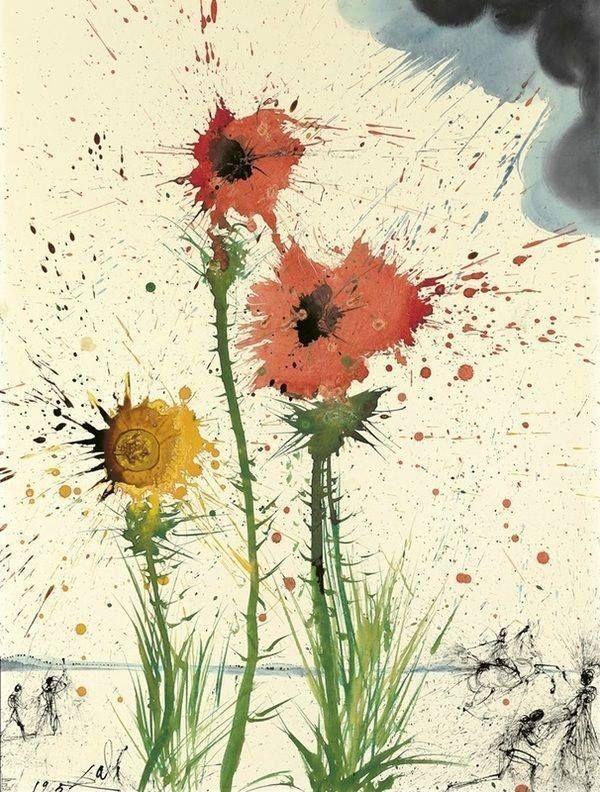 Bulletism art Spring Explosive, Salvador Dali, 1965