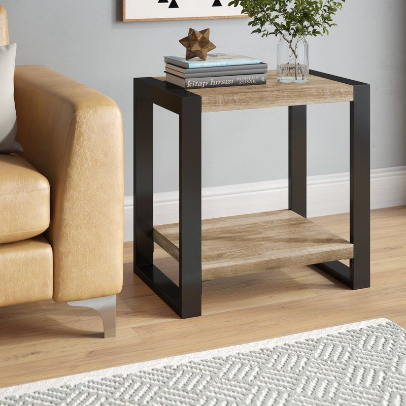 Theodulus Sled End Table With Storage Table Decor Living Room End Tables Side Table