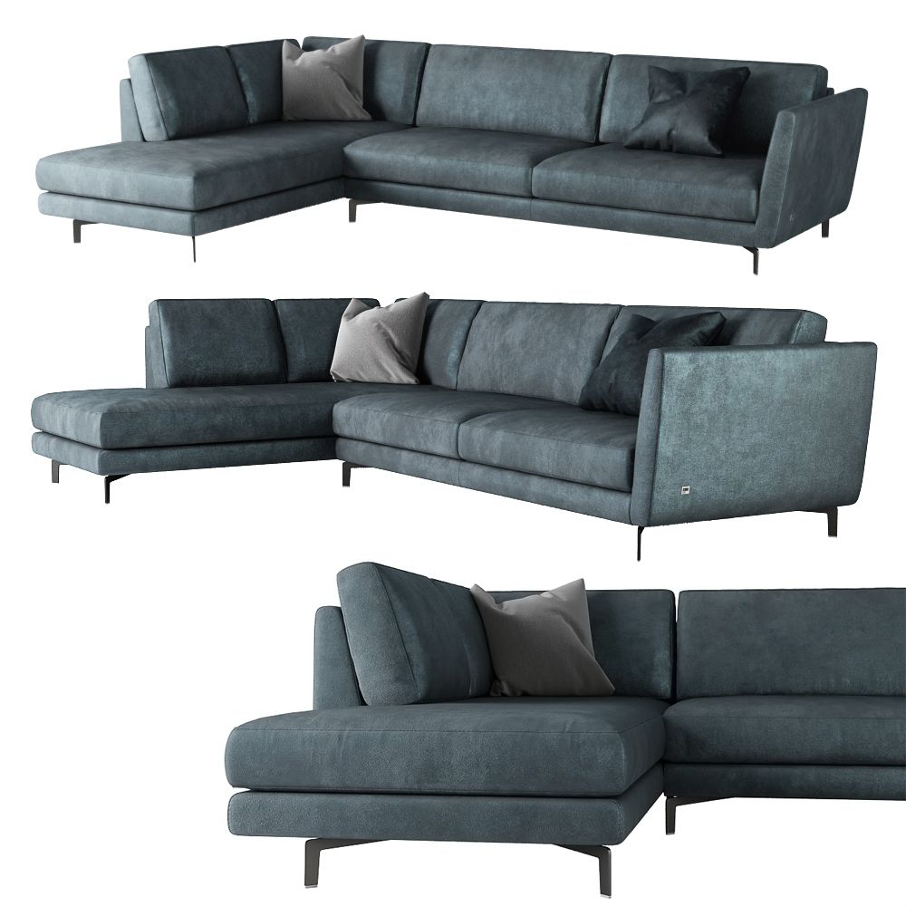 Divano Moderno Ad Angolo gregory corner sofa 3d model (with images) | furniture