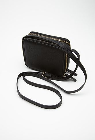 Mini Zippered Crossbody | FOREVER21 - 1000082275, $21.90, $15.33