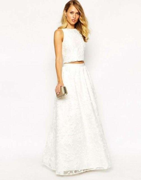Faldas largas de temporada 2015  fotos de los modelso - Falda larga blanca  Jarlo b28a4981a3c