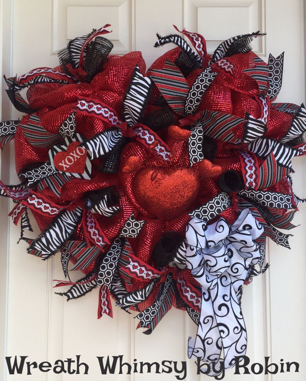 Extra large heart shaped red black deco mesh valentines wreath extra large heart shaped red black deco mesh valentines wreath front door wreath rubansaba
