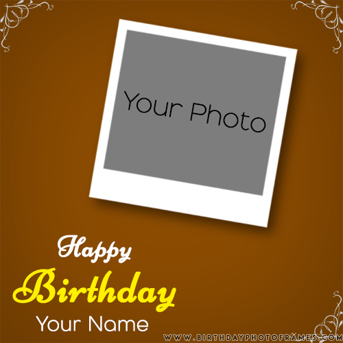 Pin On Birthday Card With Name And Photo