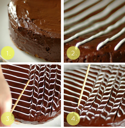 Homemade Chocolate Cake Decorating Ideas : Elegant and Simple Fan and Feather Cake Decoration Food ...