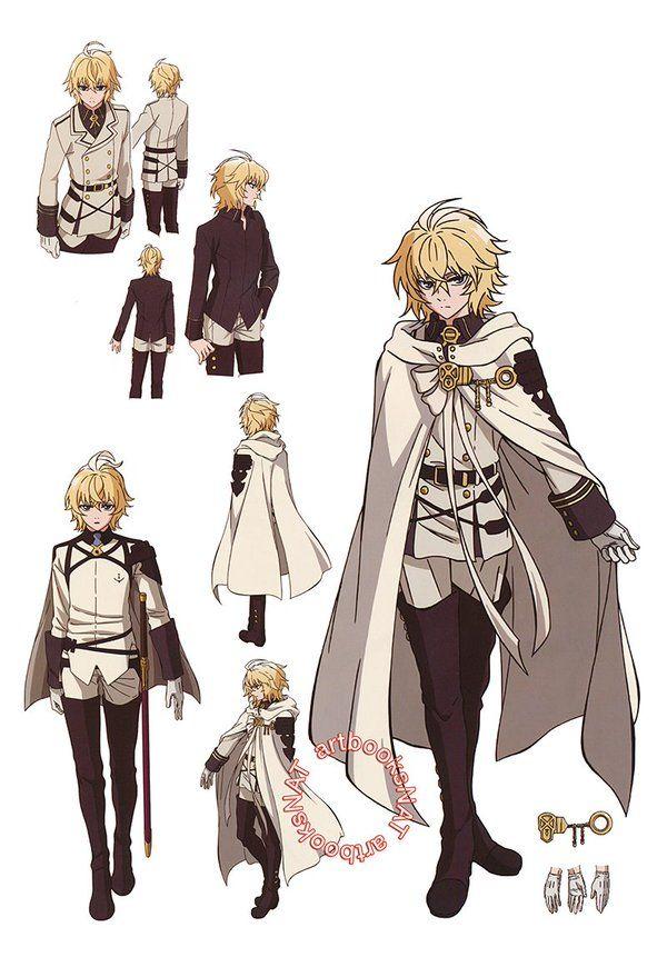 Cbjecmww8aqnxac Jpg 600 861 Owari No Seraph Mikaela Hyakuya Anime Character Design