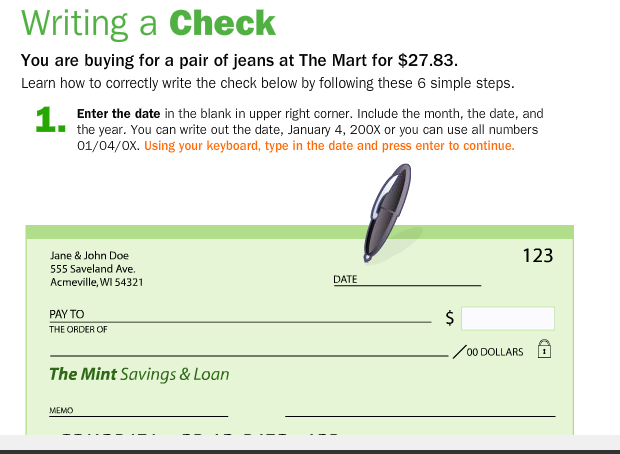 Writing A Check May Be Old School But This Interactive Teaching Students How To Do It Properly Is Not Make It Simple Hosting Services Writing