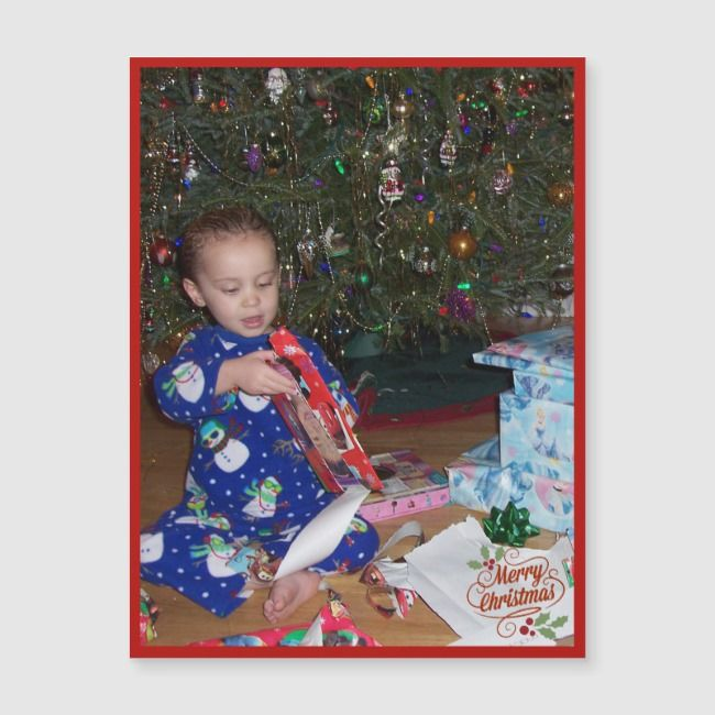 Christmas Refrigerator Magnet Kids Photo Template