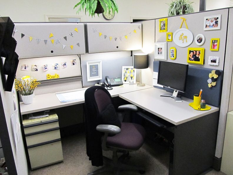 stylish cubicle yes it s possible office office decor office rh pinterest com