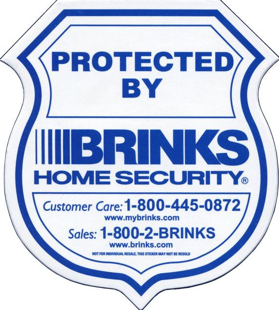 Brinks Home Security Window And Door Decals By Princessofelia - Window decals for home security