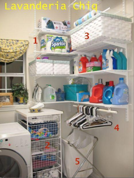 parte de lavanderia organizada.
