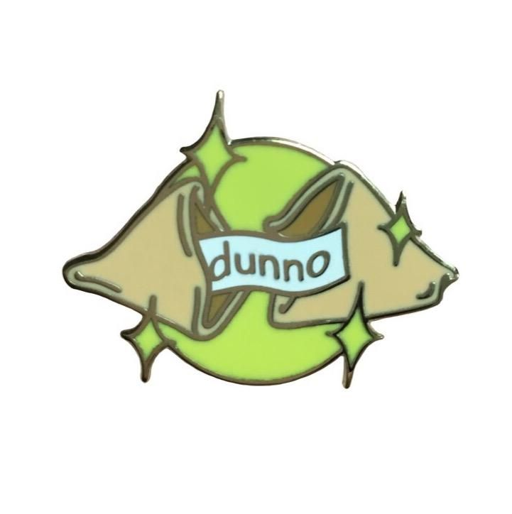 Dunno Fortune Cookie Collaboration Enamel Pin With
