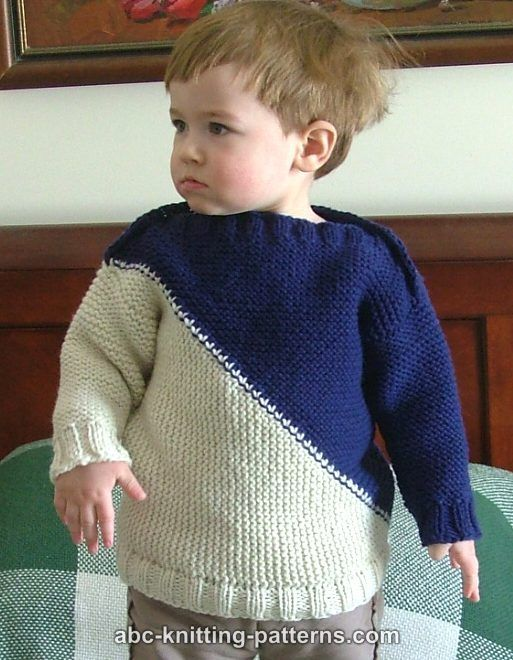 Abc Knitting Patterns Childs Color Block Sweater Not Sure Ill
