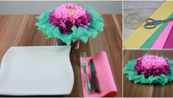 How to make these colorful tissue paper flowers #c / #Colorful #flowers #Paper #Tissue #tissuepaperflowerbackdrop #giantpaperflowers