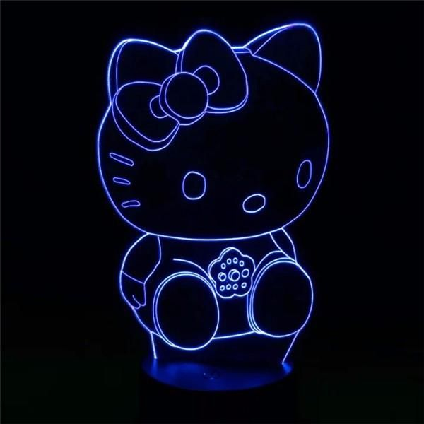 Hello Kitty 3D Lamp 7Colors Changing LED Night Light Touch