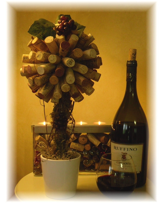 Wine bottle corks crafts - Wine Cork Topiary