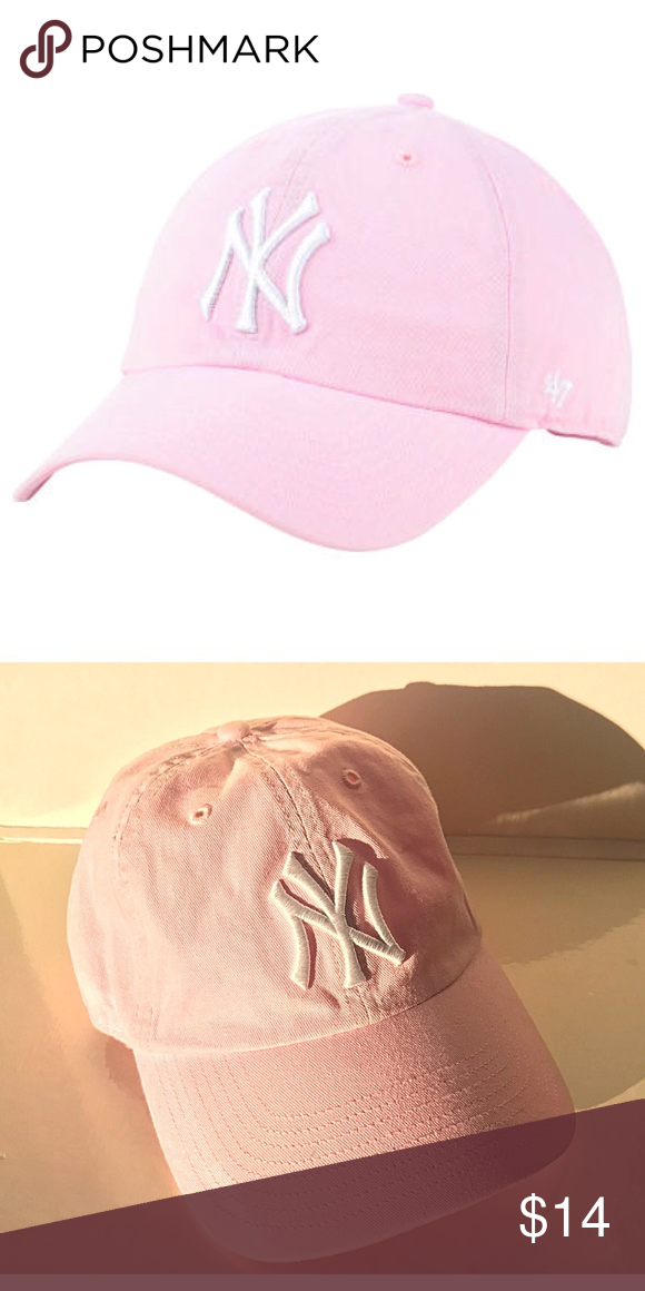 5d92323d9b139 ... new zealand new york yankees 47 mlb pink white hat like new new york  yankees womens