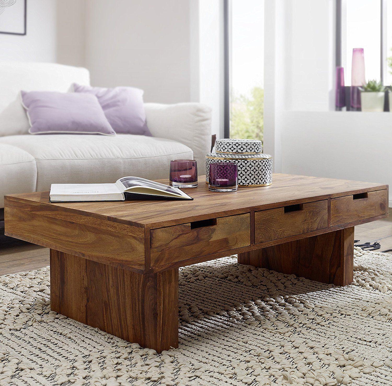 Schubladen Landhaus-Stil Holztisch rechteckig Natur-Produkt Massiv