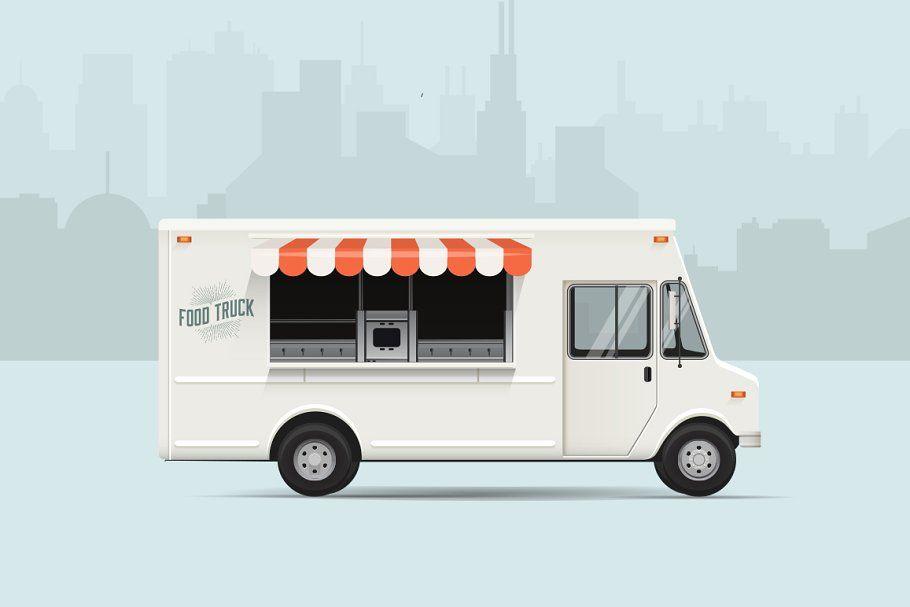 Food Truck Vector Illustration Food Truck Vector Illustration Food Truck Design