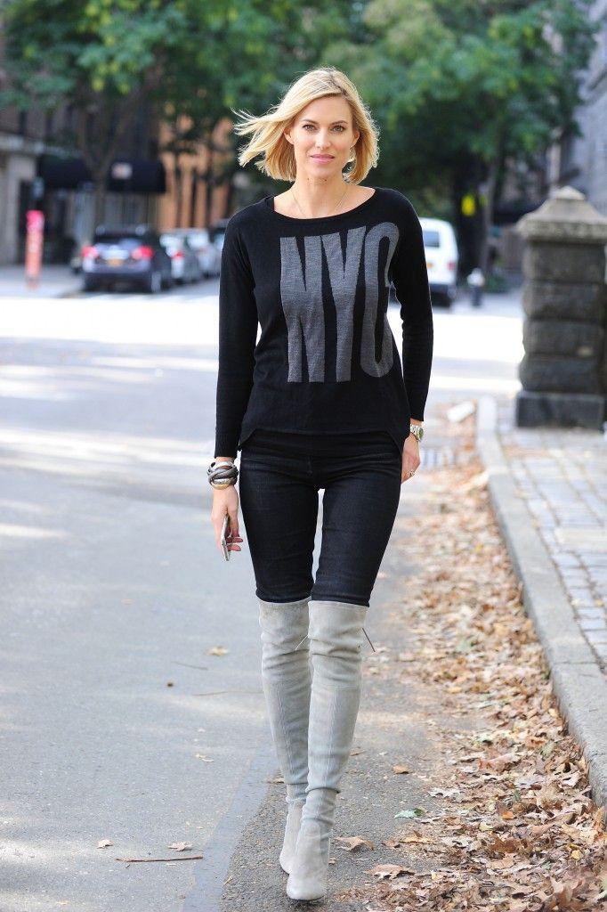 Celeb Favorite Kristen Taekman S Black Nyc Shirt Fashion