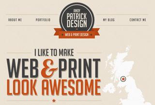 Andy Patrick Portfolio #designer #portfolio #typography #uppercase #serif #interaction