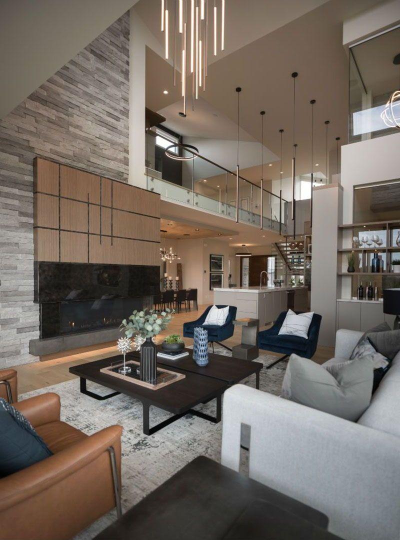 Beautiful Contemporary Home Boasts Inviting Warmth In Calgary Alberta Contemporary Living Room Design Modern Home Interior Design Contemporary House