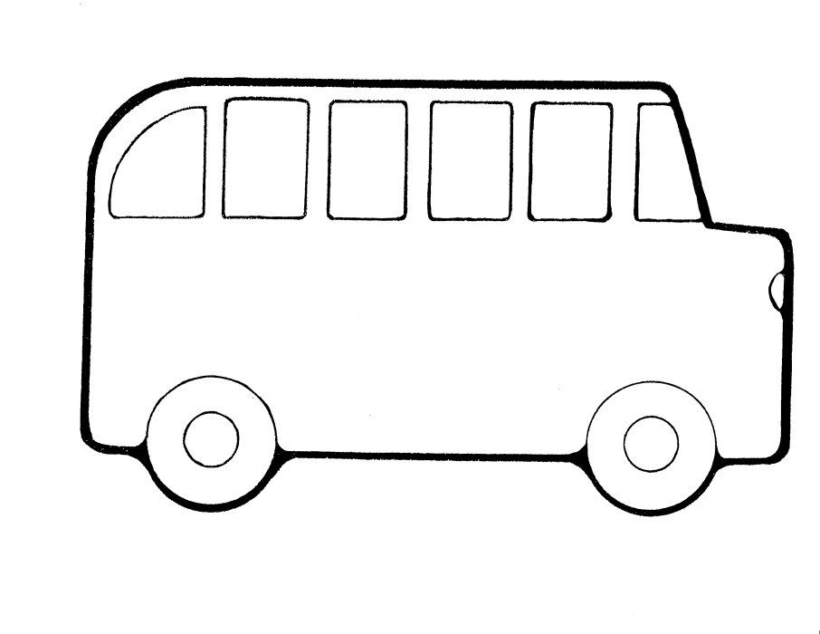 school bus coloring sheet