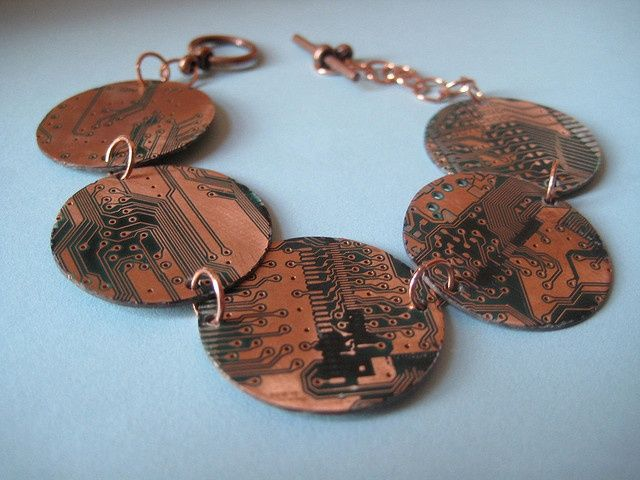upcycled cpu   Upcycled Computer Jewelry  I do have an old