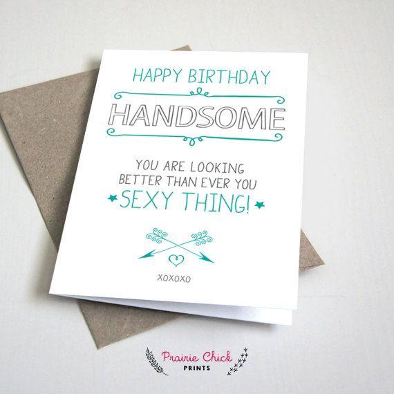 Happy Birthday Handsome Greeting Card Card Boyfriend Etsy Diy Birthday Card For Boyfriend Birthday Cards For Boyfriend Cards For Boyfriend