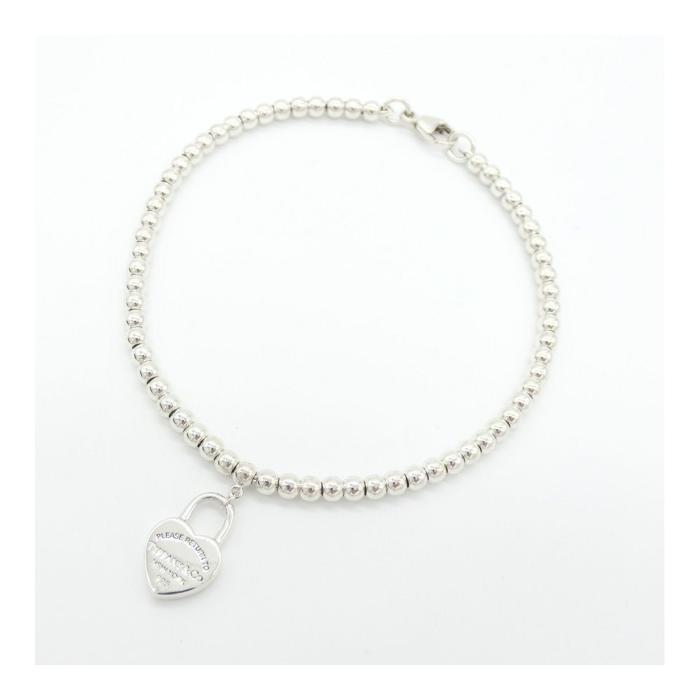 Tiffany bracelet ladies silver ag return to mini heart ball